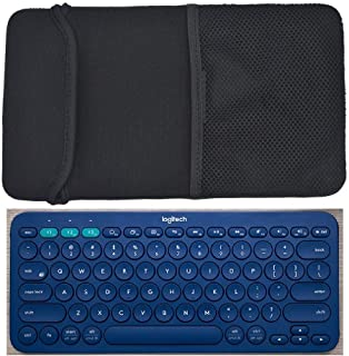 AF-WAN Zwart Kleur Neopreen Draagbescherming Hoes voor Logitech K480/K380 Multi-Device Bluetooth Keyboard en Arteck HB030B...