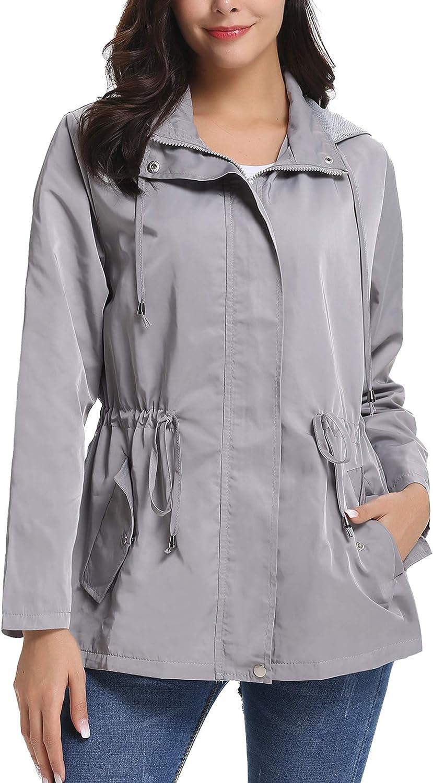 Bombing free shipping iClosam Super beauty product restock quality top Women Raincoats Waterproof Rain Lightweight Jacket Hood