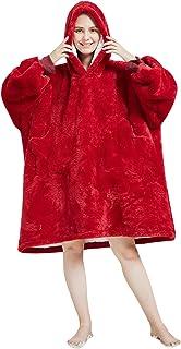 Manta Tipo Sudadera con Capucha, Unicornio Invierno Cálido Suave Forro Polar Sherpa de Gran tamaño Manta de TV Camisón Pijamas para Hombre Mujer