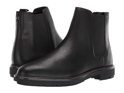COACH Leather Chelsea Boot (Black) Men