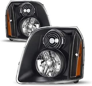 For GMC Yukon/Yukon XL Denali OE Replacement Headlights Black Driver/Passenger Head Lamps Pair New