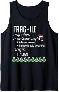 Funny Christmas Fragile Definition Major Award Leg Lamp Sexy Tank Top