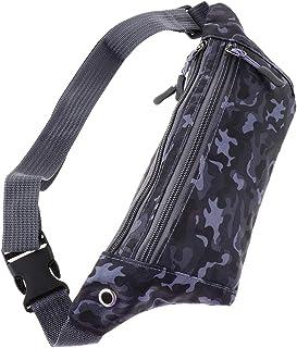 kesoto Waterproof Running Belt Gym Fitness Travel Waist Pouch Bum Bag Men Women - Black