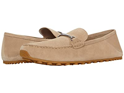 COACH Collapsible Heel Leather Driver (Oat) Men