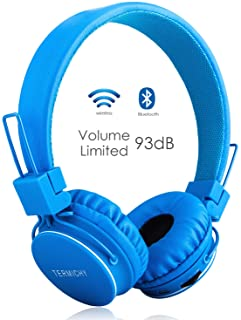 wireless/wired Foldable Stereo over-Ear headsets with music share port and Built-in Microphone for calling, children Bluet...