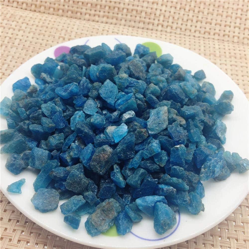 100G SDJH Esemplare Naturale di Piccole Dimensioni di Pietre Blu ruvide di Apatite Ghiaia di Cristallo Minerali e Pietre Campione di Pietra preziosa Grezza