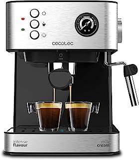 comprar comparacion Cecotec Power Espresso 20 Professionale Cafetera. 20 Bares, Manómetro, Depósito de 1,5L, Brazo Doble Salida, Vaporizador, ...