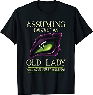 Assuming I'm Just An Old Lady Was Your First Mistake Dragon T-Shirt