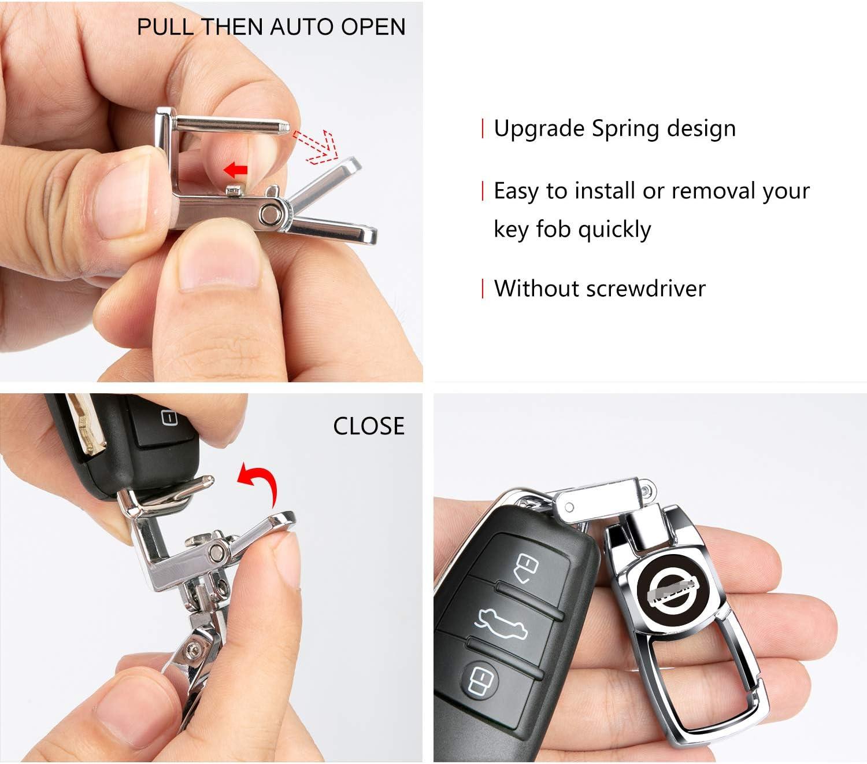 Sturdy Car Key Fob Key Chain Heavy Duty Keychain for Hyundai Elantra Sonata Santa Fe Genesis Veloster Tucson Tiburon Kona