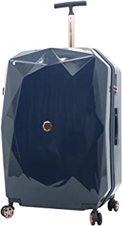 kensie Women's 3D Gemstone TSA Lock Hardside Spinner Luggage, Midnight Blue, 20-Inch Carry-On