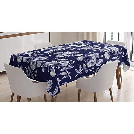 KIMONO Damask Table Linen Wedding Home Decor Dining Kitchen Premier Prints Snorkel Blue White Tablecloth Choose Your Size