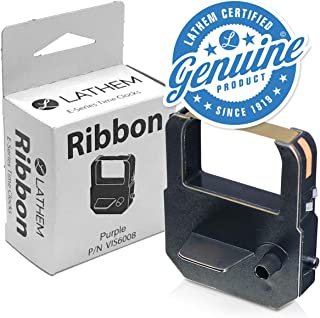 Lathem Time VIS6008 Ribbon, Purple