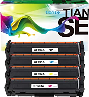 TIANSE Compatible CF500A CF501A CF502A CF503A Toner Cartridge for HP 202X 202A CF500X use with Color Laserjet Pro MFP M281...