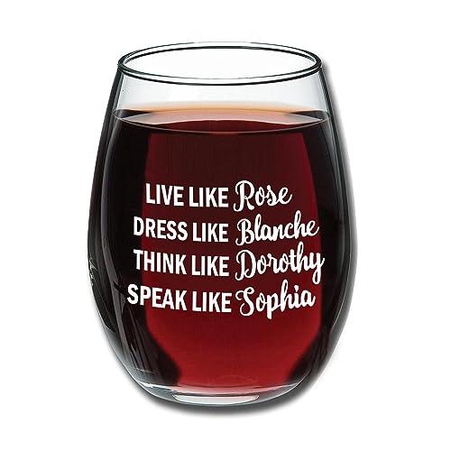 Golden Girls Funny Wine Glass 15oz