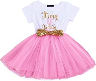 OBEEII Baby Girl 1st / 2nd Birthday Sequin Tutu Dress Princess Cake Smash Photo Prop