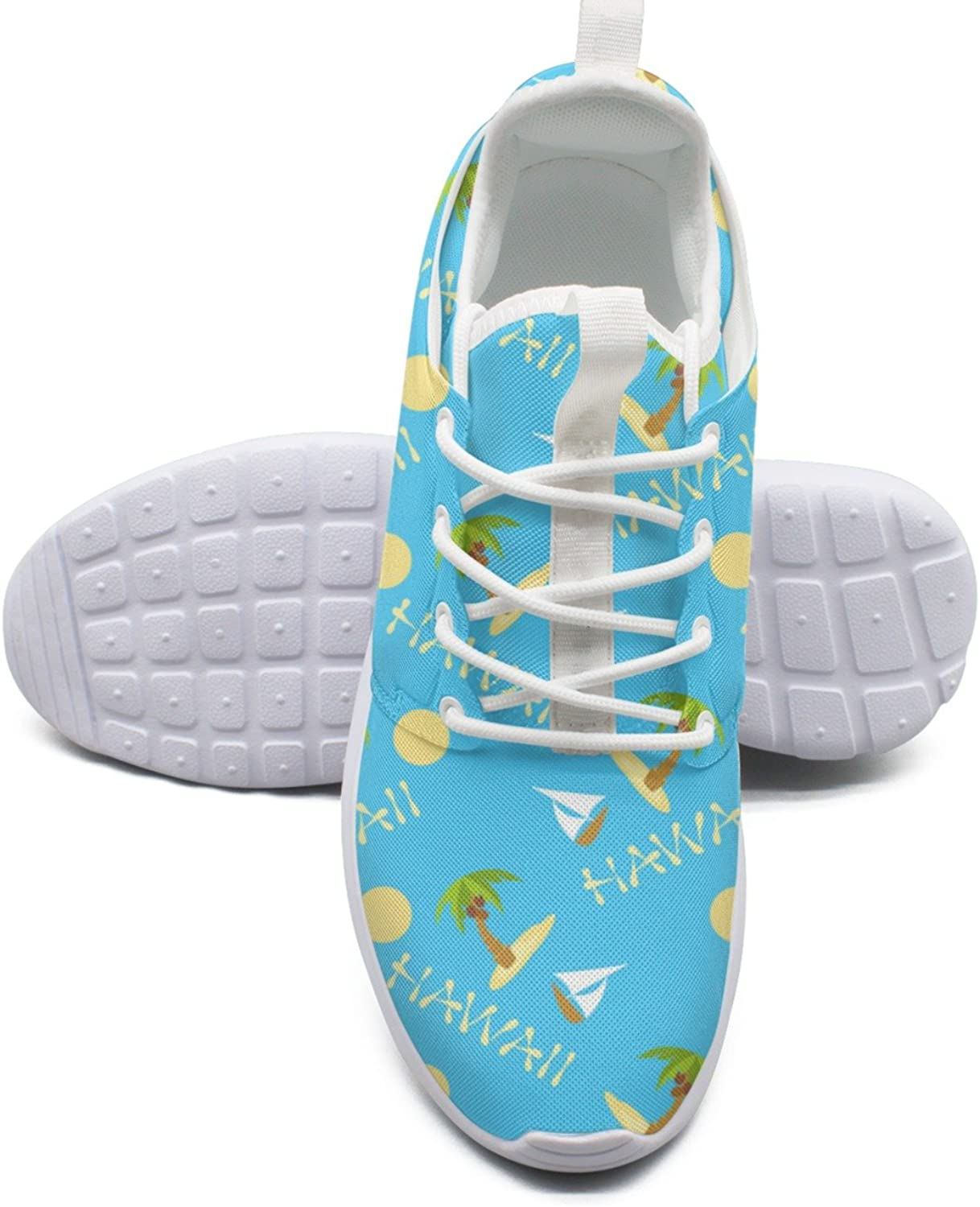 Tropical Island With Palm Tree And Boat Running shoes For Plantar Fasciitis For Women size 6