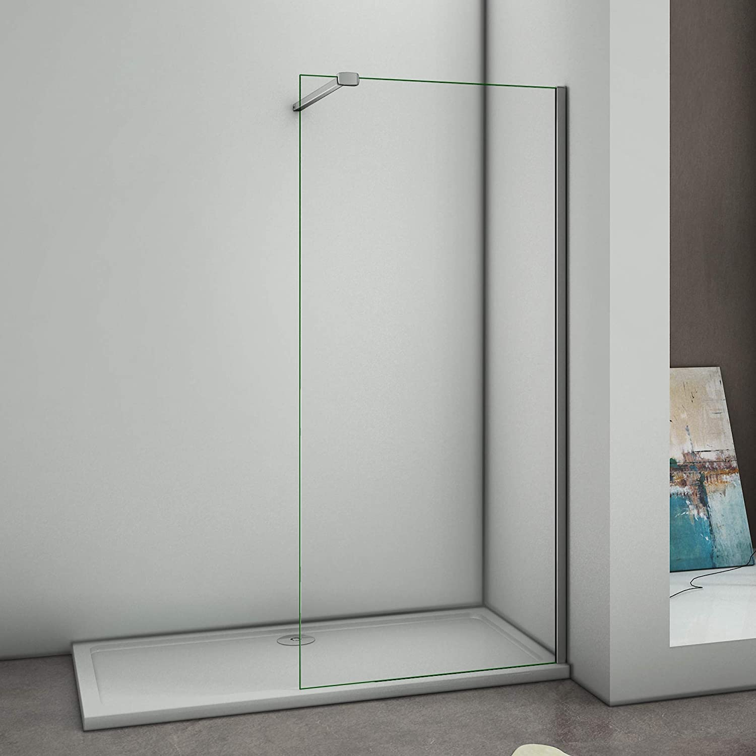 1100x1950mm Walk in Screen Wet Room Shower Enclosure 8mm Easyclean Glass Panel