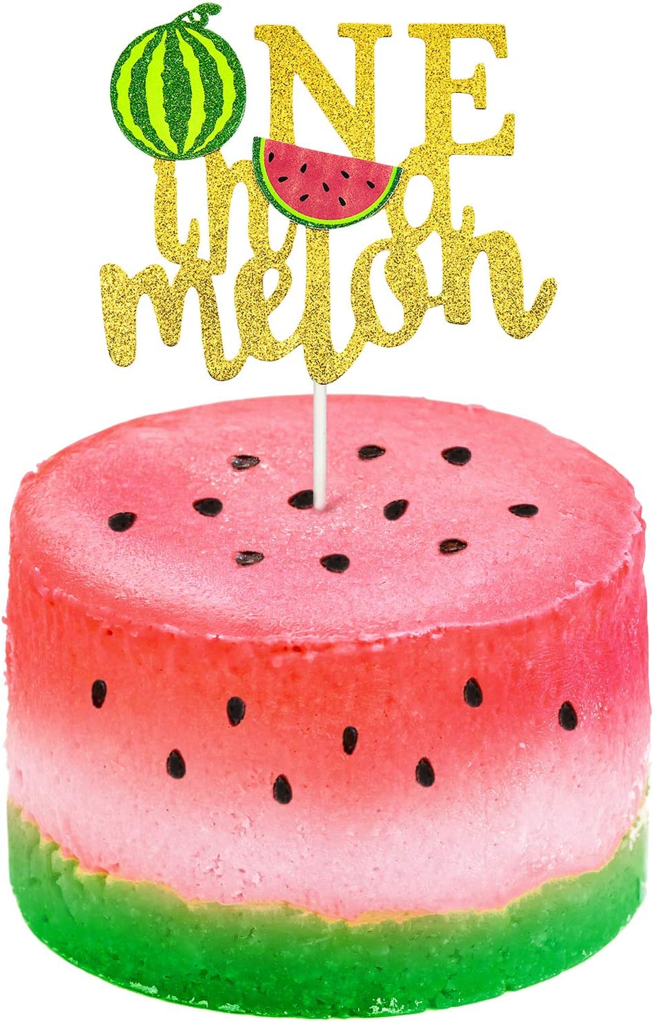 Amazon Com One In A Melon Cake Topper Glitter Watermelon Cupcake Topper 1st Birthday Party Cake Decor Watermelon Themed Kids Party Supplies Decorations For Baby Shower Girl S Birthday Toys Games