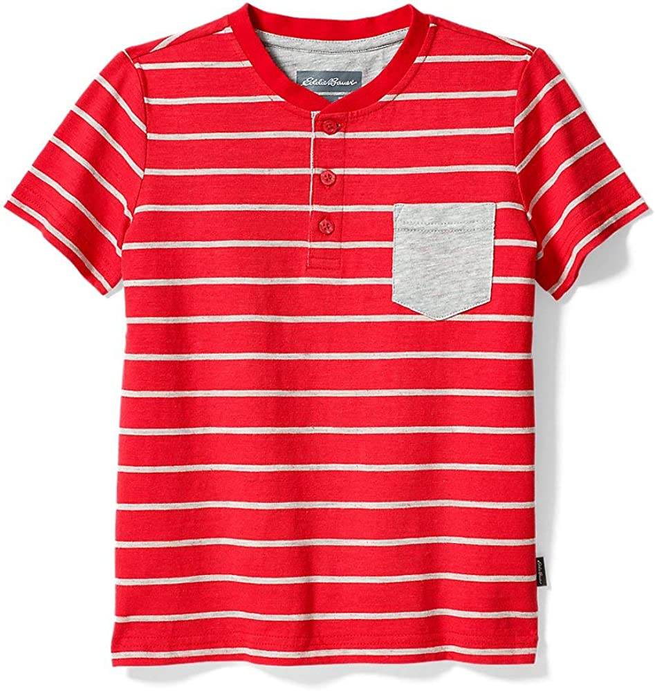Eddie Bauer Boys' Territory Short-Sleeve Henley T-Shirt