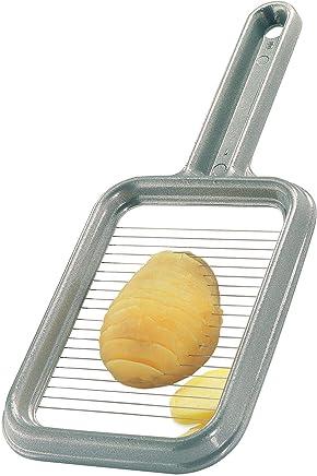Westmark Pellkartoffel-/Mozzarellaschneider, Aluminium/Rostfreier Edelstahl, 25,8 x 11,4 x 1,2 cm, Rondex, Grau, 60802260 preisvergleich bei geschirr-verleih.eu