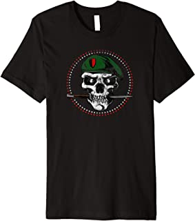 Skull Military Soldier With Knife Premium T-Shirt