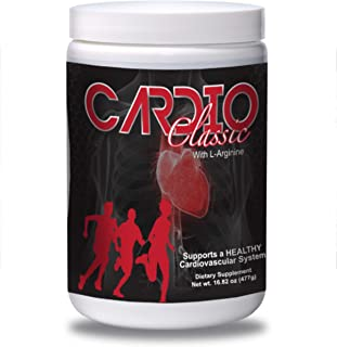Cardio Classic - L Arginine Powder – Boosts Nitric Oxide Production – L Citruline - Vitamin D3 - Antioxidants & Phytonutrients From Grape Skin, Grape Seed, Pomegranate & Hawthorne Extract, Blueberry, Blackberry, Grape & Pomegranate Juice Concentrate – Gluten Free - Guaranteed and Made In The USA - Alpha One Nutrition is the Owner and Only Authorized Seller of Cardio Classic