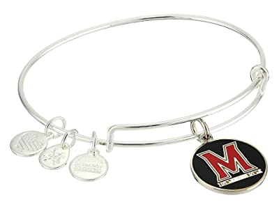 Alex and Ani Color Infusion University of Maryland Logo II Bangle (Shiny Silver) Bracelet