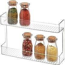 iDesign Linus Plastic Wall Mount Stadium Spice Rack, 2 Organizer for Kitchen Pantry, Cabinet, Countertops, Vanity, Office,...