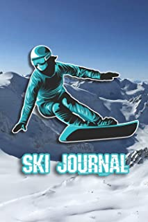 """Ski Journal: Ski lined notebook 