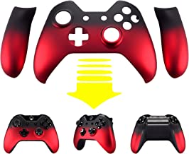 eXtremeRate Shadow Red Soft Touch Front Housing Shell Faceplate Replacement Parts Side Rails Panel for Xbox One Standard Controller W/3.5 mm