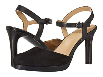 Naturalizer Tulip (Black Suede/Leather) Women