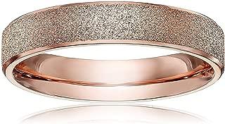 4mm Women's Titanium Rose Gold Wedding Band Ring