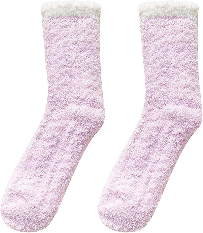 BODOAO Ladies Over item handling Chicago Mall Keep Warm Socks Fashion Patchwork Women