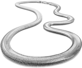 TOOGOO(R) Uomo Collana Acciaio Inossidabile Collana A Spina di Pesce Snake Serpente Catena Catenina Collegamento Argento P...