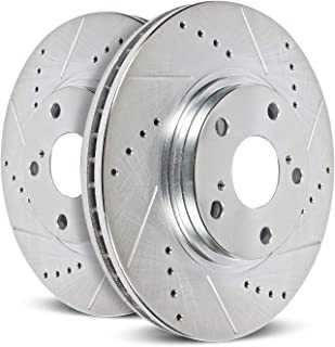 Power Stop JBR1332XPR Rear Evolution Drilled & Slotted Rotor Pair