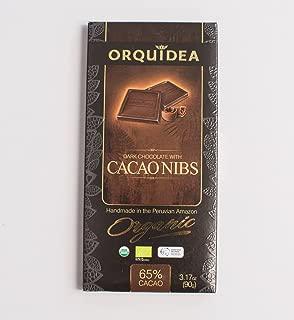 LA ORQUIDEA Bar Chocolate Criollo Nibs, 3.17 OZ