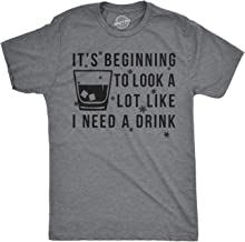 Mens Its Beginning to Look A Lot Like I Need A Drink Funny Christmas Tshirt