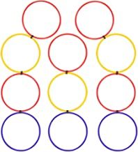 Agility Hoops Ladder Set   11 Linked Speed Training Rings   Sports Conditioning Drill Equipment for Speed Hurdles, Agility...