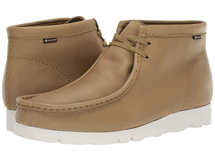 Clarks  Wallabee Boot GTX (Khaki Leather) Mens Shoes