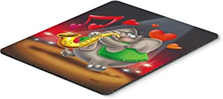 Caroline's Treasures Elephant playing the Saxophone Mouse Pad, Hot Pad or Trivet, Multicolor (APH0250MP)