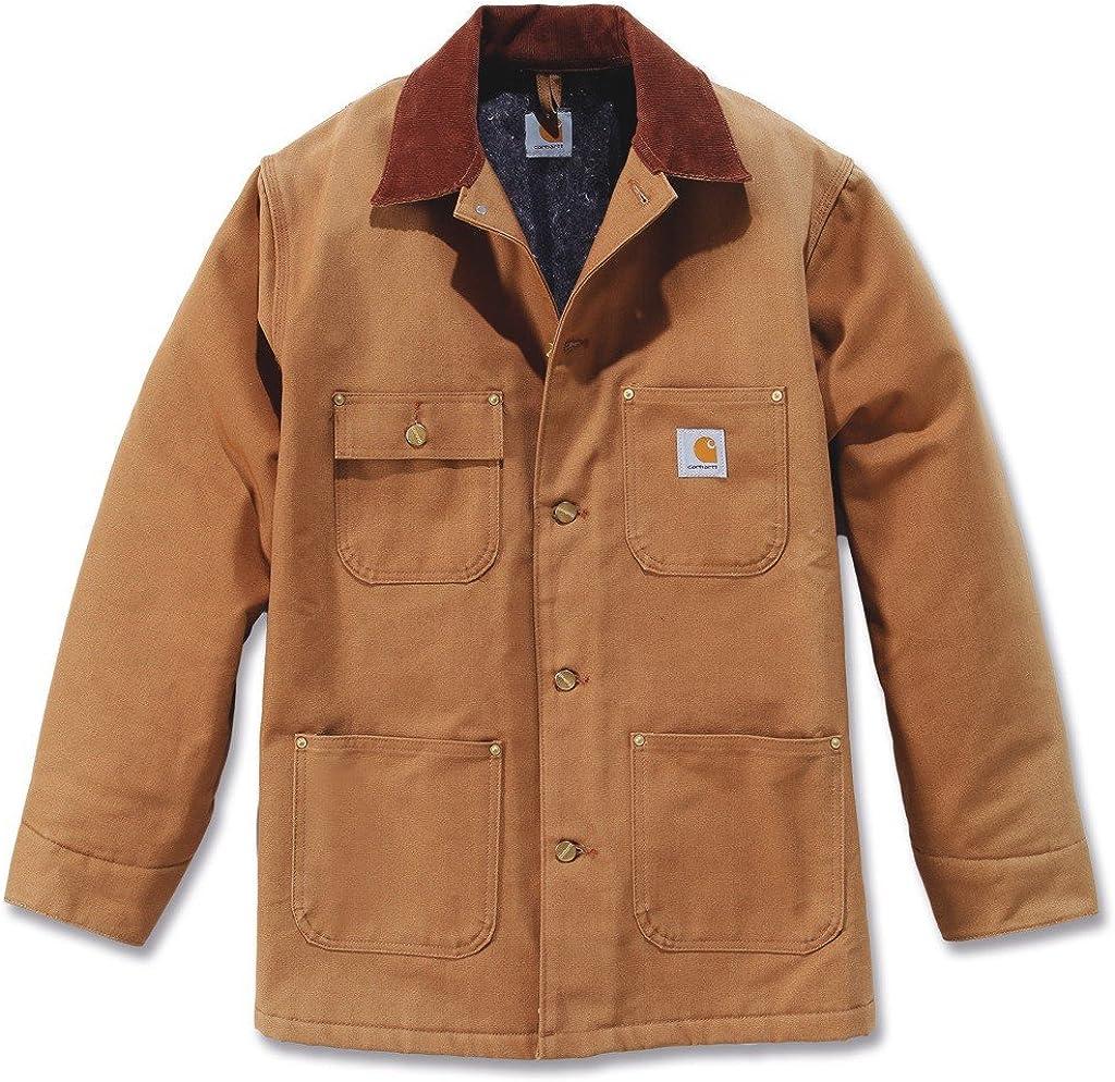 Carhartt Mens Big /& Tall Duck Chore Coat Blanket Lined C001