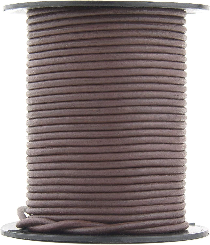 商品 Xsotica-Dye Round Leather Cords -2.0 Cord Brown mm 大規模セール Natu