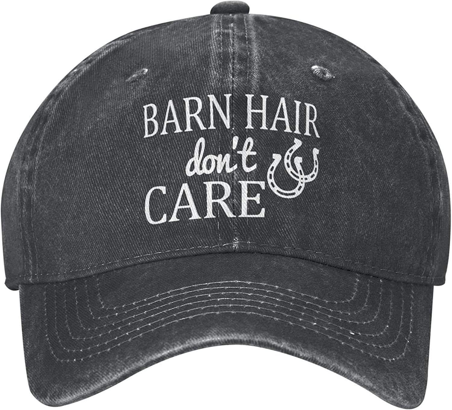 Black Baseball Caps for Women and Men, Adjustable Vintage Jeans Cotton Dad Hat for Hiking Running Beach