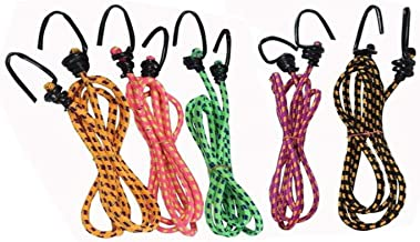 Superior High Strength Stretchable Elastic Rope/Bungee Cord for Hanging Clothes, Tying Behind Bikes (Assorted Colour, 4Ft)
