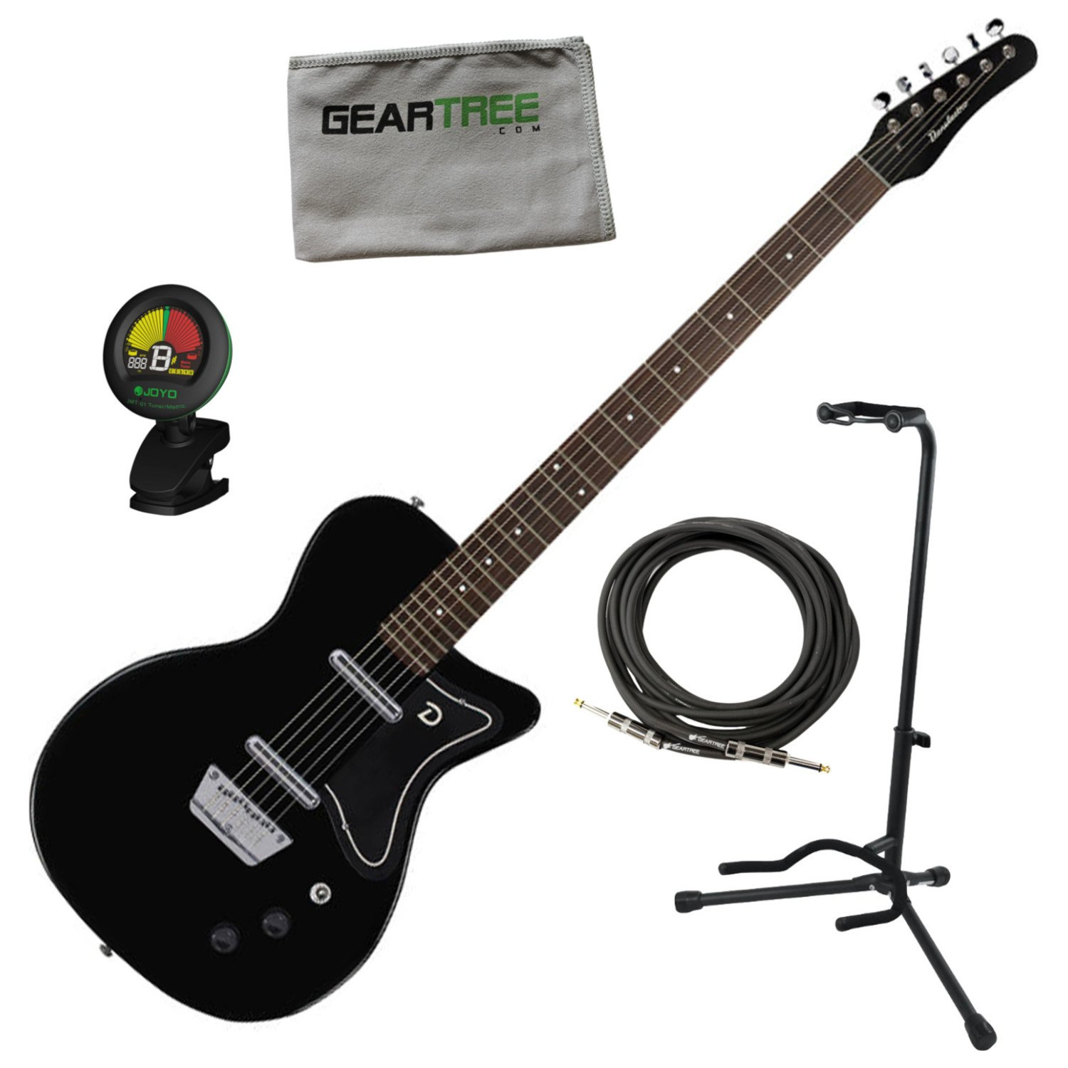 Cheap Danelectro 56 Baritone Electric Guitar Black w/Stand Cable Tuner and Cloth Black Friday & Cyber Monday 2019