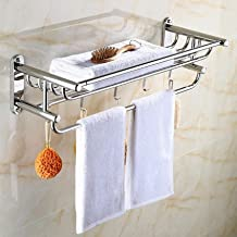 Badkamerplanken, moderne 304 roestvrijstalen badkamerplank Wandhanddoekenrek planken verchroomd (afmetingen: 60 cm)