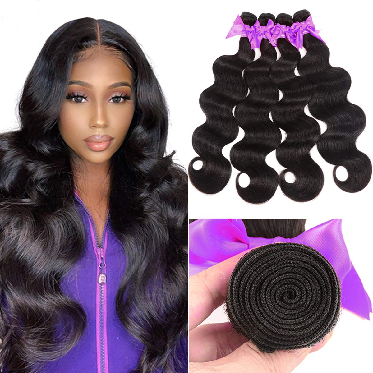 Miss CARA Body Wave Sale Special Price Virgin Hair 4 24 28 100% Bundles Unp 26 Super sale 22