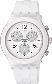Swatch Mens Quartz Watch, Analog Display and Silicone Strap SVCK1007