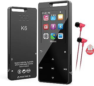 comprar comparacion Reproductor MP4 Bluetooth 8 GB,TESECU MP3 Player MP3 Bluetooth Deportivo Cuerpo Efecto Espejo Botón Táctil Radio FM y Repr...