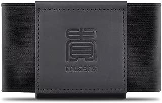 Compact Slim Wallet Minimalist Front Pocket Wallet for Men Women Elastic Card Holder (Black)